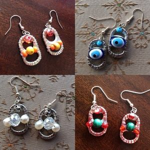Pick Your Pair Recycled Coke Top Earrings